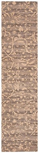 Nourison Silk Elements (SKE22) Taupe Rectangle Area Rug, 7-Feet 9-Inches by 9-Feet 9-Inches (7'9
