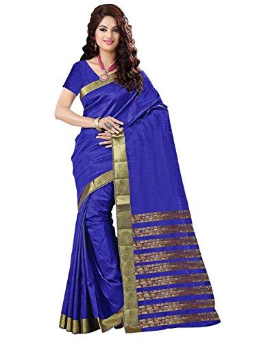 Trendz Tussar Cotton Silk Saree(TZ_Priya_Blue)