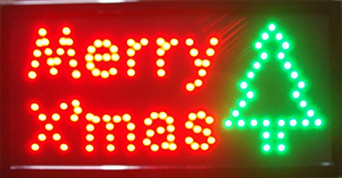 - CHENXI Merry Chirstmas/Happy New Year LED Open Sign Rushed Sale Graphics Animated Motion Running 48 X 25 CM Indoor (48 X 25 CM, Merry Christmas-02)