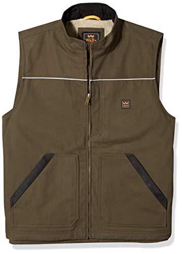 Walls Men's Size Super Duck Lined Vest, bark Brown, Large Tall