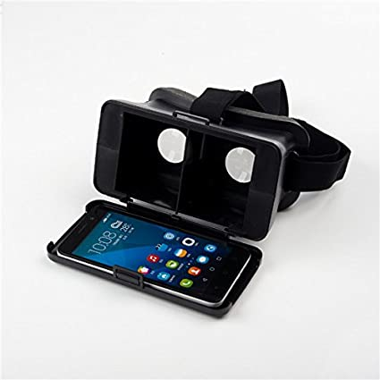 691cf4ae1258 Image Unavailable. Image not available for. Color  NJ Head Mount Virtual  Reality 3D Video Glass Cardboard For Cellphone