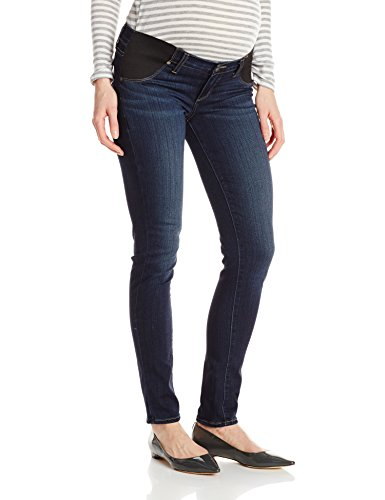 PAIGE Premium Denim Women's Maternity Verdugo Ultra Skinny with Elastic Insets in Nottingham, 27 - Paige Premium Denim Blue Jeans