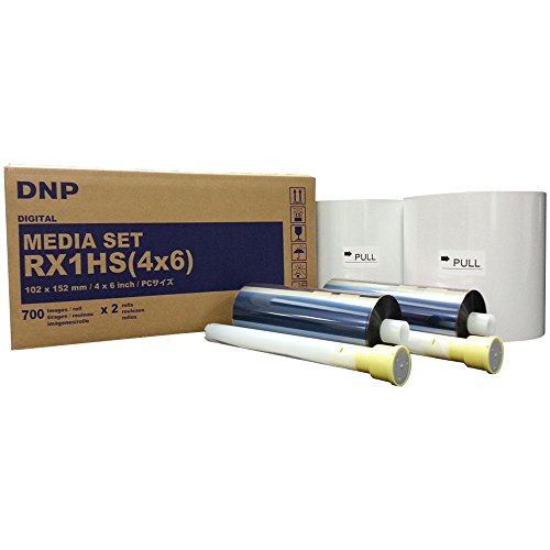RX1HS 4x6'' Print Pack for DNP DS-RX1HS Printer (1400 prints). Paper & ribbon media kit. COMES WITH FREE SAMPLES OF OUR BEST SELLING PHOTO FOLDERS - EVENTPRINTERS BRAND. by DNP and Eventprinters