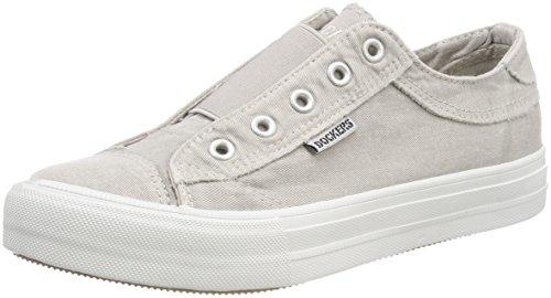 Dockers by Gerli Women's 42xe201-790210 Low-Top Sneakers, Grey (Hellgrau 210), 4 UK