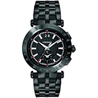 Versace V-Race Chronograph Black Dial Men's Watch