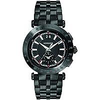 Versace Men's 'V-Race Sport' Swiss Quartz Stainless Steel Casual Watch, Color:Black (Model: VAH040016)