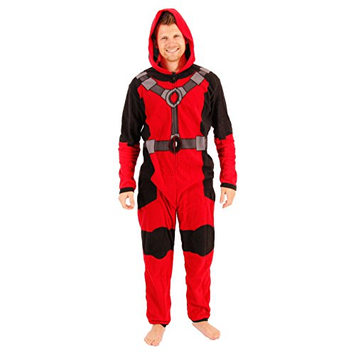 Marvel Deadpool One Piece Pajama Union Suit (Adult Medium)