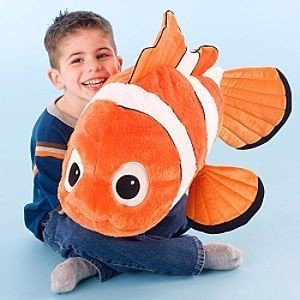 Disney Store Jumbo Nemo Plush Disney's Finding (Clown Fish Bean Bag)