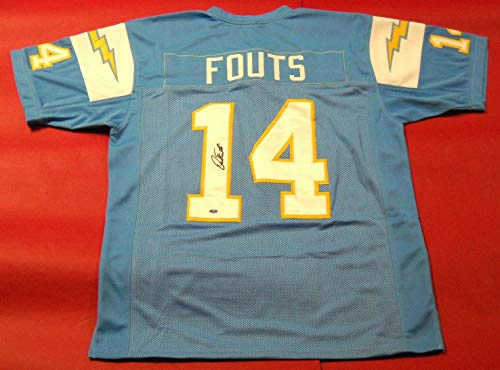 DAN FOUTS AUTOGRAPHED SAN DIEGO CHARGERS JERSEY AASH LAST ONE ()