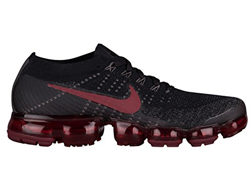 Nike Hombres Air Vapormax Flyknit Black / Anthracite Flyknit Black / Dark Team Red