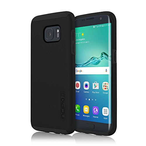 Samsung Galaxy S7 Edge case, Incipit Dual Pro, Hard Shell Case with Impact-Absorbing Core Shock-Absorbing Impact-Resistant Dual-Layer Cover - Black/Black