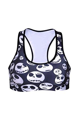 Des femmes sans jantes crâne Racerback Fitness sport soutien-gorge Yoga Vest