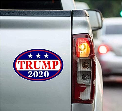 4 Pcs Trump 2020 Stickers Keep America Great Magnetic Bumper Sticker with 6 PCS Trump Sticker