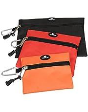 Case4Life Hoogwaardige set van 3 multifunctionele gereedschapstassen, opbergzakken met karabijnhaak voor snelle toegang