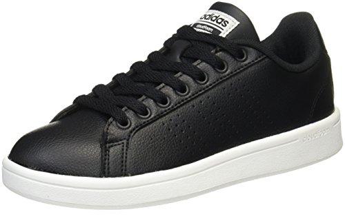 Femme core Noir Cloudfoam Advantage Met Basses core Adidas Black Black silver Sneakers qATFwIZxU