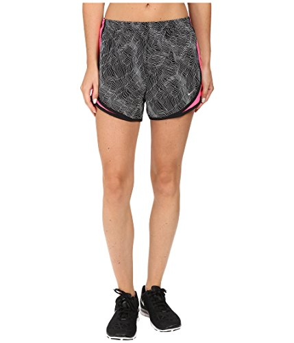 NIKE Womens Printed Dri-Fit Shorts Black M