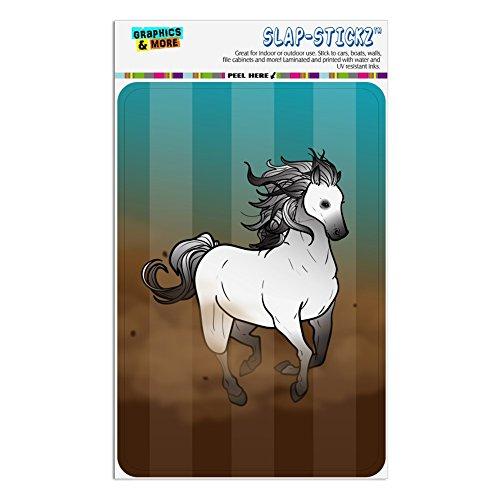 Horse Wild Mustang Running Home Business Office Sign - Window Sticker - 4