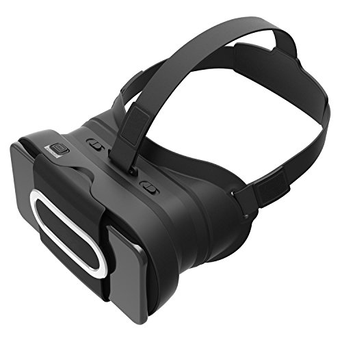 KOBWA 3D VR Headset,Lightweight Virtual Reality 3D Glasses Portable Video Movie Game VR Box with Protective Case Compatible for IPhone,Samsung,HUAWEI,XIAOMI and Other 4.7''-6.0'' Smart Phones