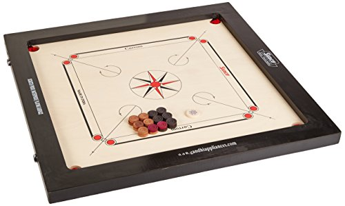 Surco Prime Speedo Carrom Board with Coins and Striker, 16mm by Surco