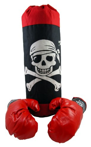 Knockout Boxer Costumes (Pirate Knock Out Boxing Set for Kids with 20