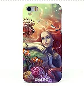 Shark?The Little Mermaid Case Hard Case Cover For phone ipad iphone 4/4s(4.7-Inch)