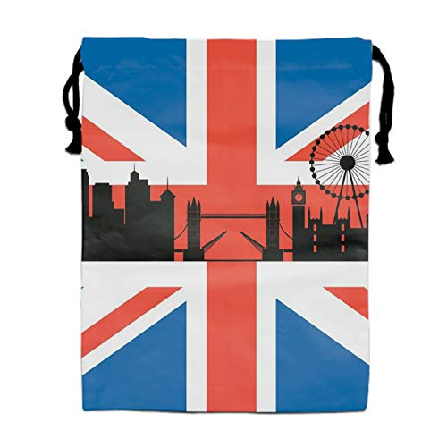 British Flag With London Cityscape Backpack for Women & Girls Casual Daypack Book School -