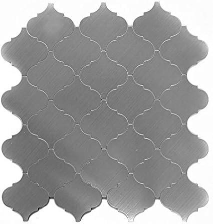 Mosaico Autoadesivi in alluminio argento in metallo per piastrelle per pavimenti parete bagno doccia cucina Piastrelle Specchio banconi verkleidung badewannen verkleidung mosaico Matte mosaico Piastra