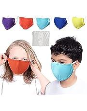 MAGONDA 5 Pack Kids Face Mask Washable for Girls & Boys - Ships from Canada - Kids Masks Reusable Multicolor Pink