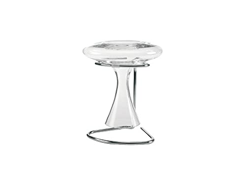 Leopold Vienna 190 x 160 x 200 mm Chromed/ Silicone De Luxe Powerpull Decanter Carafe Drying Stand, Silver
