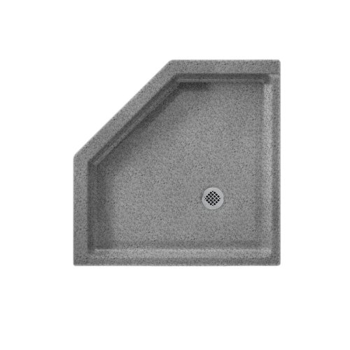 36neo Angle Shower Base (Swanstone SS-36NEO-042  Shower Base with Corner Drain, Gray Granite)