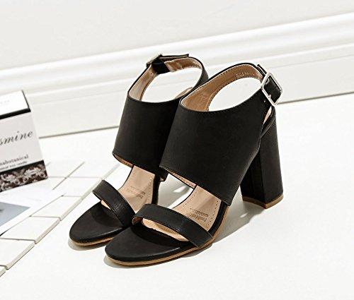 À 2018 Brun Color 35 Romaines Hauts Occasionnels Marron De Été Mode Chaussures Taille Élégant Femmes Noir Soirée Talons Sexy noir Sandales qErBwZ1E