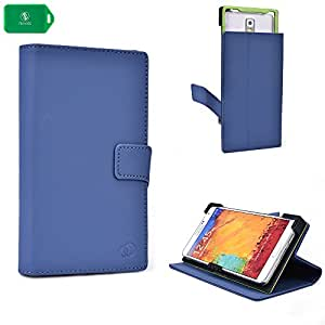 NAVY BLUE UNIVERSAL SMARTPHONE CASE FITS Samsung Galaxy Note T879 WITH KICKSTAND OPTION