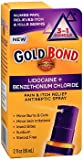 Gold Bond Pain & Itch Relief Antiseptic Spray With 4% Lidocaine (Pack of 3)
