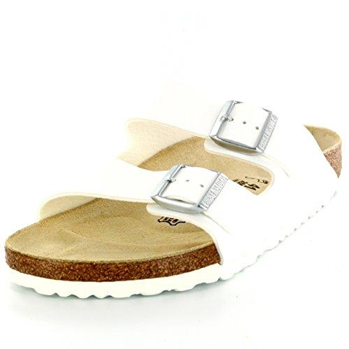 Womens Birkenstock Arizona Slip On Buckle Summer Vacation Beach Sandals - White - 9
