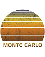 Monte Carlo: Wide Ruled Notebook Paper For Work, Home Or School. Vintage Sunset Note Pad Journal For Family Vacations. Travel Diary Log Book For Adults & Kids With 8.5 x 11 Inch Soft Matte Cover.