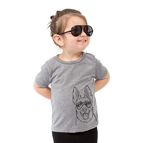 Brutus The German Shepherd Dog Toddler Unisex Boy Girl Kids Crewneck 3T Grey - Kid Drawn Charts