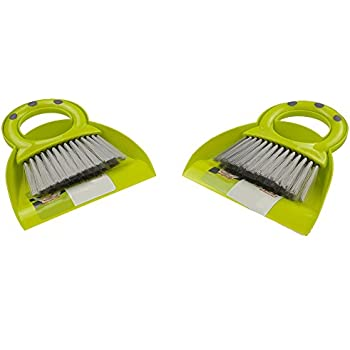 Pekky Mini Dustpan and Broom Set, 2 Packs