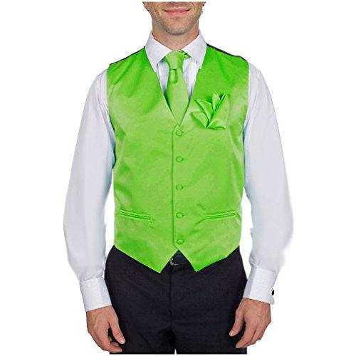 Lime Green Necktie (VTHA-ADF-16-L - Vest, Necktie, Bow Tie and Hanky Set - Lime)
