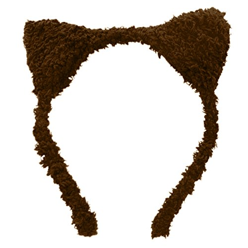 [Ztl Lovely Cat Ears Headband Hairband Cosplay Costume Party Hair Hoop for Girls] (Brown Rabbit Ears Costumes)