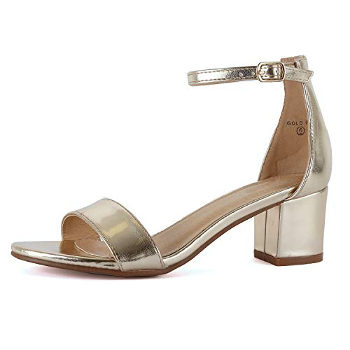 Guilty Shoes - Jean 08 Gold Lucite, 9