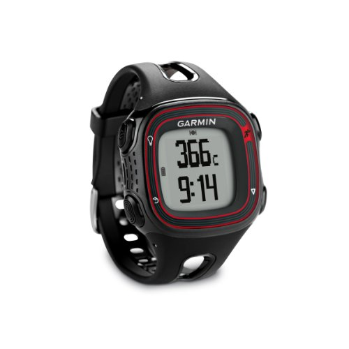 garmin forerunner 10 gps watch black red import it all. Black Bedroom Furniture Sets. Home Design Ideas