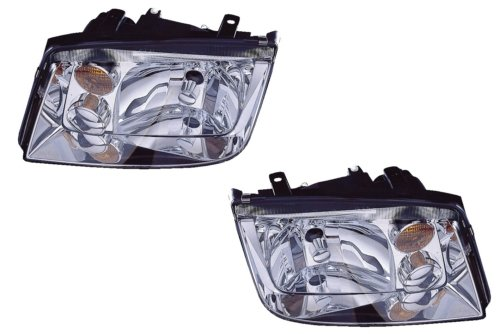 02 Vw Volkswagen Jetta Headlight - 9