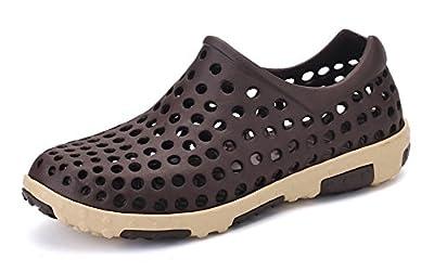 Ausom Men's Slip On Beach Aqua Water Sandal Garden Clog Shoes