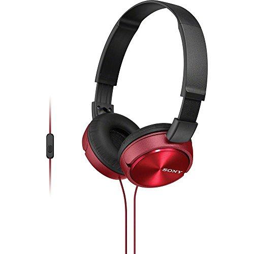 Sony MDR-ZX310AP/R ZX Series Stereo Headset - - Studio Headphones Series Monitor Sony