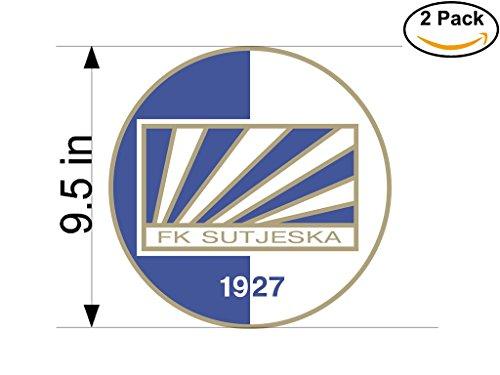 fan products of Sutjeska Yugoslavia Soccer Football Club FC 2 Stickers Car Bumper Window Sticker Decal Huge 9.5 inches