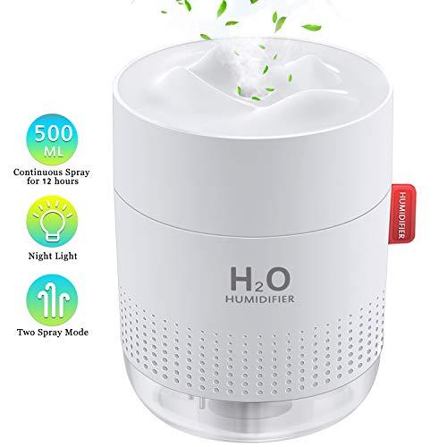 FoPcc 500ml Portable Humidifier