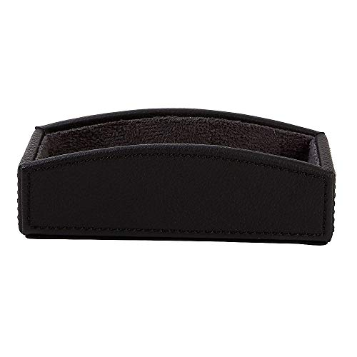 Card Black Faux Leather - Staples 2030220 Business Card Holder Faux Leather Black