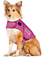 Thundershirt Sport Dog Anxiety Jacket | Vet Recommended Calming Solution Vest for Fireworks, Thunder, Travel, Separation | Fuchsia, Large