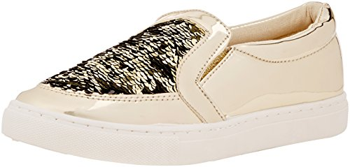 Boohoo Women's Sequin Slip on Pumps Low-Top Sneakers Gold (Gold) ytO4n2awls