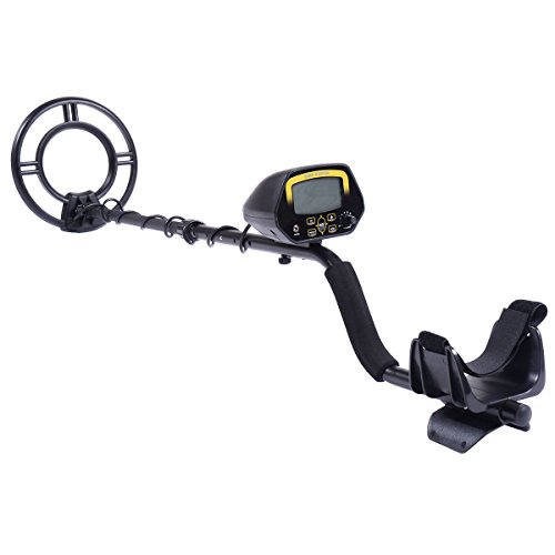 Goplus LCD Metal Detector Kit Sensitive Search Treasure Hunter w/ Shovel Waterproof Coil (Shark Detector Metal)